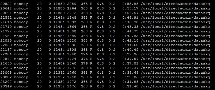Xử lý tiến trình dataskq gây load cao trên DirectAdmin