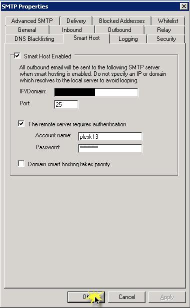 Cấu hình Email Relay cho Plesk trên Windows Server sử dụng Mail Enable