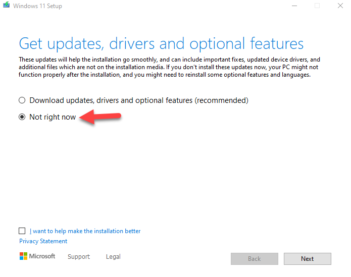 Upgrade Windows 11